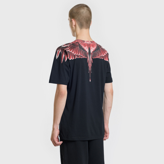 Мужская футболка Marcelo Burlon Red Ghost Wings Black/Multicolor