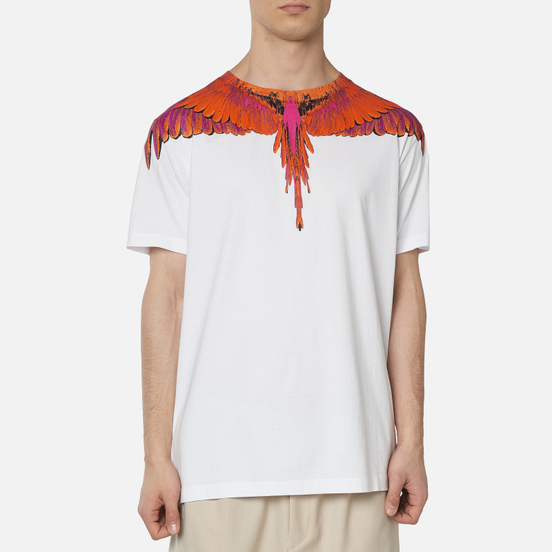 Мужская футболка Marcelo Burlon Red Wings White/Red
