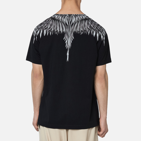 Мужская футболка Marcelo Burlon Sharp Wings Basic Black/White