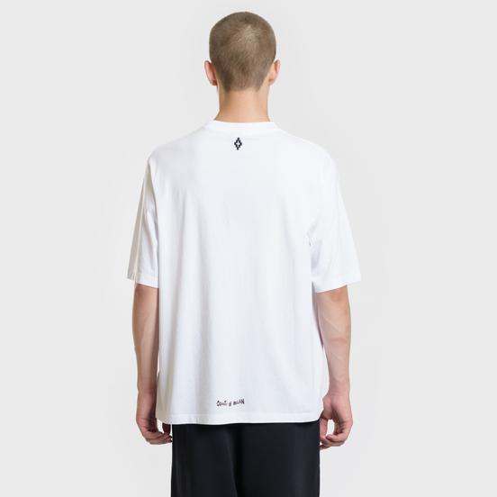 Мужская футболка Marcelo Burlon Shock Over White/Multicolor
