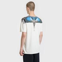 Мужская футболка Marcelo Burlon Turquoise Wings Beige/Multicolor фото- 3
