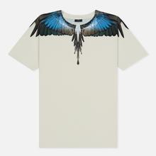 Мужская футболка Marcelo Burlon Turquoise Wings Beige/Multicolor фото- 0
