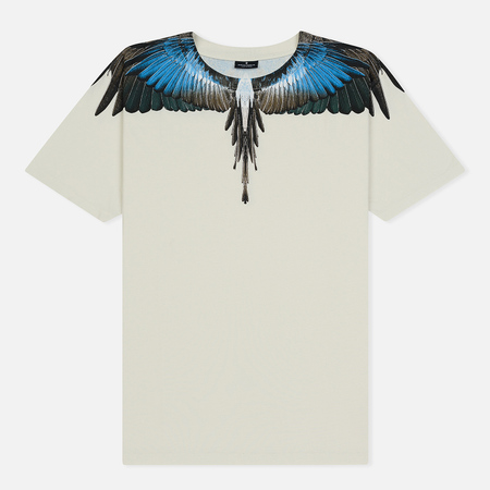Мужская футболка Marcelo Burlon Turquoise Wings Beige/Multicolor