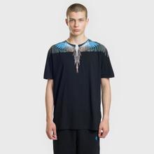 Мужская футболка Marcelo Burlon Turquoise Wings Black/Multicolor фото- 1