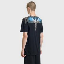 Мужская футболка Marcelo Burlon Turquoise Wings Black/Multicolor фото- 3