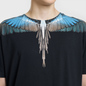 Мужская футболка Marcelo Burlon Turquoise Wings Black/Multicolor фото - 2