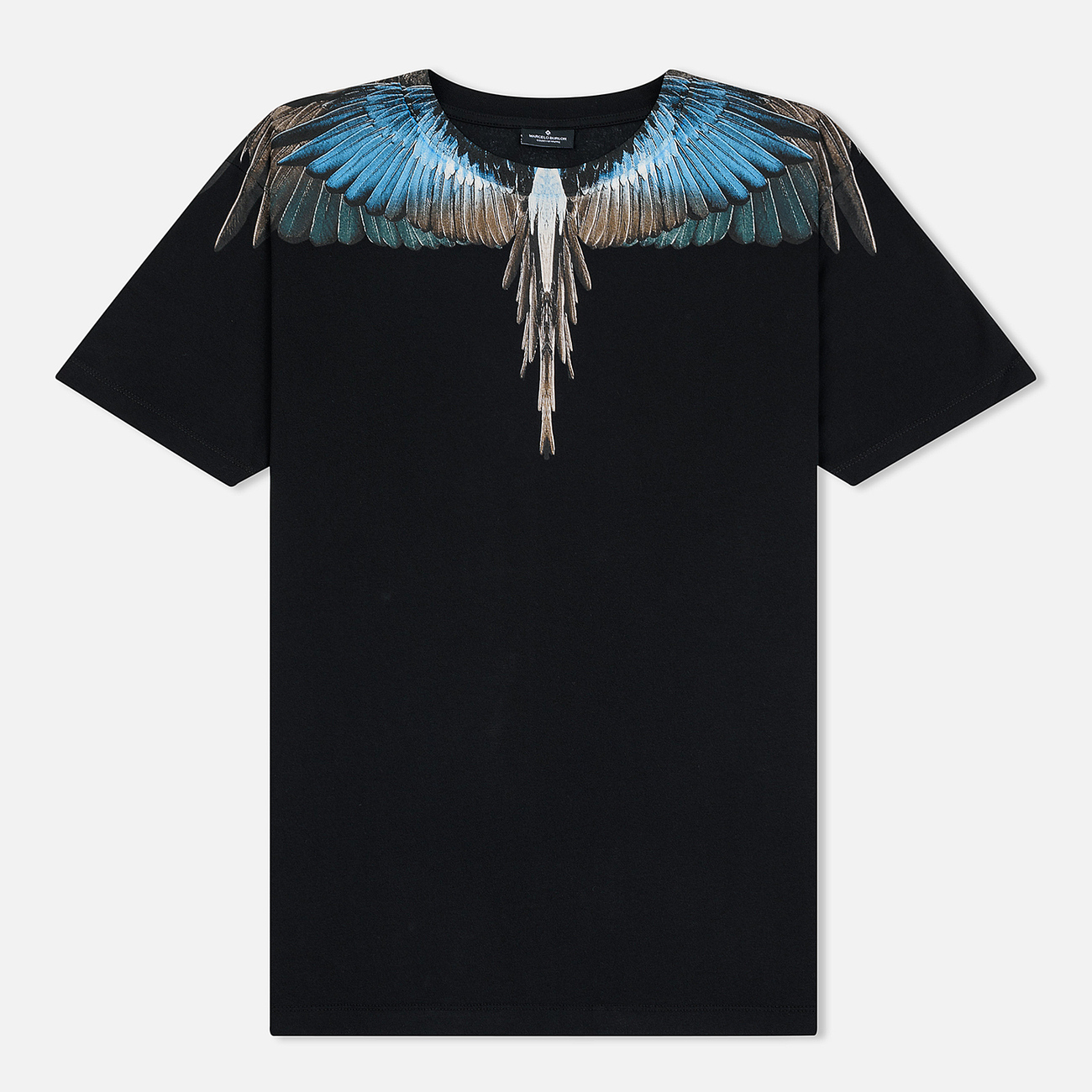 Мужская футболка Marcelo Burlon Turquoise Wings Black/Multicolor