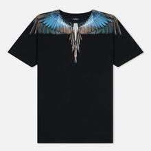 Мужская футболка Marcelo Burlon Turquoise Wings Black/Multicolor фото- 0