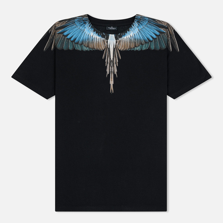 Мужская футболка Marcelo Burlon Turquoise Wings Black/Multicolor