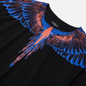 Мужская футболка Marcelo Burlon Wings Basic Black/Faded Orange фото - 1