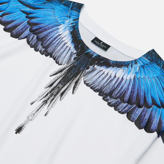 Мужская футболка Marcelo Burlon Wings Basic White/Blue
