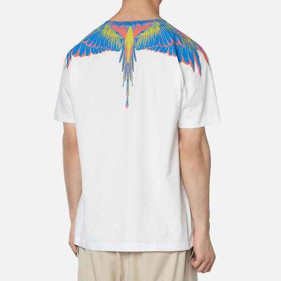 Мужская футболка Marcelo Burlon Wings Basic White/Multicolor