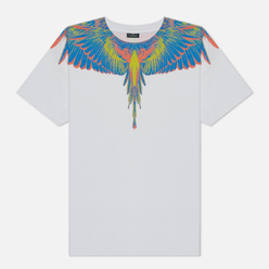Мужская футболка Marcelo Burlon Wings Basic White/Multicolor