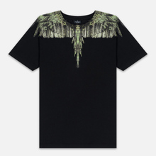 Мужская футболка Marcelo Burlon Wood Wings Black/Green фото- 0