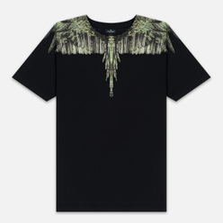 Мужская футболка Marcelo Burlon Wood Wings Black/Green