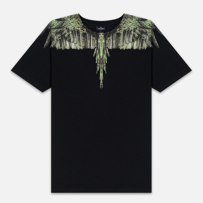 Мужская футболка Marcelo Burlon Wood Wings Black/Green