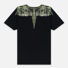 Мужская футболка Marcelo Burlon Wood Wings Black/Green фото- 2