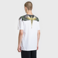 Мужская футболка Marcelo Burlon Yellow Wings White/Multicolor фото- 3