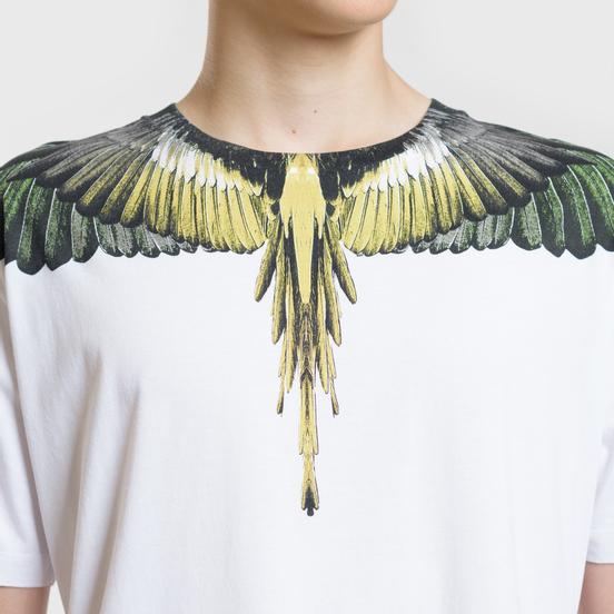 Мужская футболка Marcelo Burlon Yellow Wings White/Multicolor