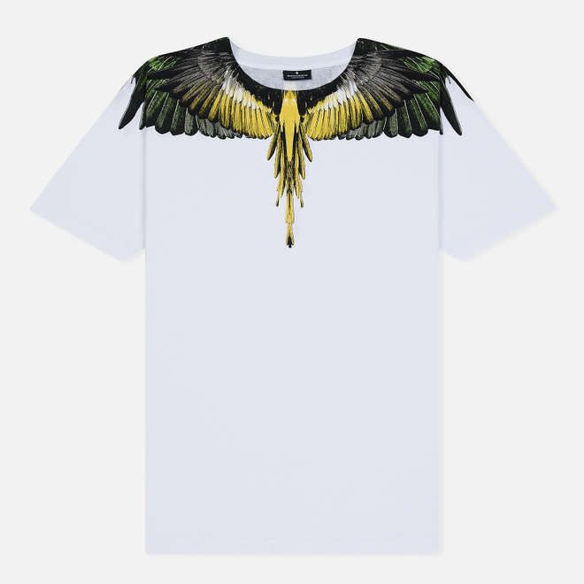 Мужская футболка Marcelo Burlon Yellow Wings White/Multicolor