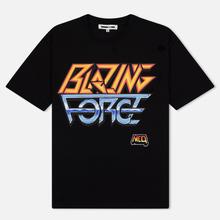 Мужская футболка McQ Alexander McQueen Blazing Force Dropped Shoulder Darkest Black фото- 0