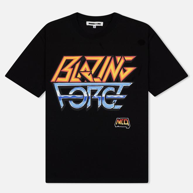 Мужская футболка McQ Alexander McQueen Blazing Force Dropped Shoulder Darkest Black