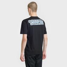 Мужская футболка McQ Alexander McQueen Blazing Force Dropped Shoulder Darkest Black фото- 3