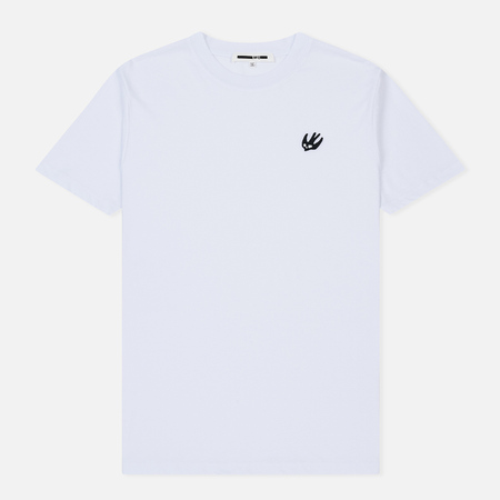 Мужская футболка McQ Alexander McQueen Crew Neck Swallow Badge Optic White/Black