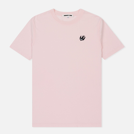 Мужская футболка McQ Alexander McQueen Crew Neck Swallow Badge Post It Pink