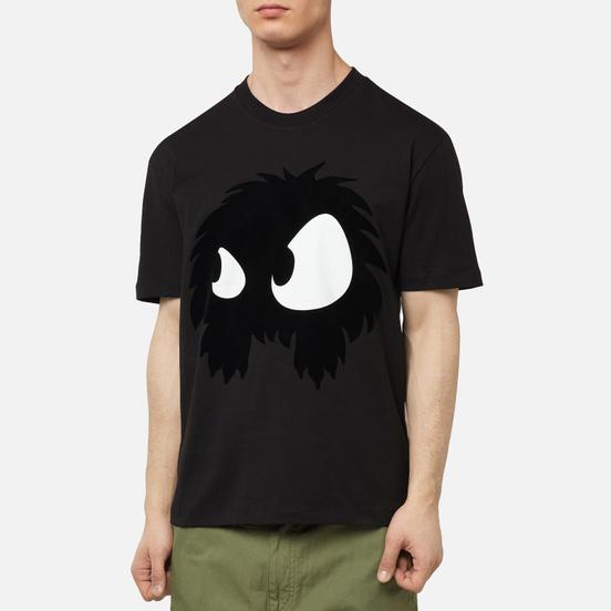 Мужская футболка McQ Alexander McQueen Dropped Shoulder Chester Monster Darkest Black