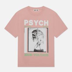 Мужская футболка McQ Alexander McQueen Dropped Shoulder Frentic Cameo Pink