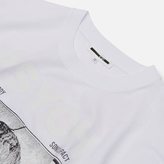 Мужская футболка McQ Alexander McQueen Dropped Shoulder Frentic White/Frentic Print