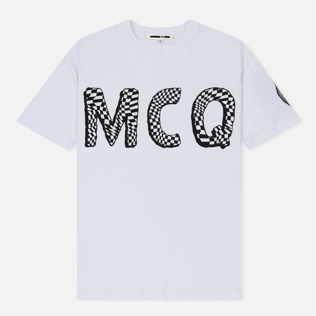 Мужская футболка McQ Alexander McQueen Dropped Shoulder MCQ Font Optic White