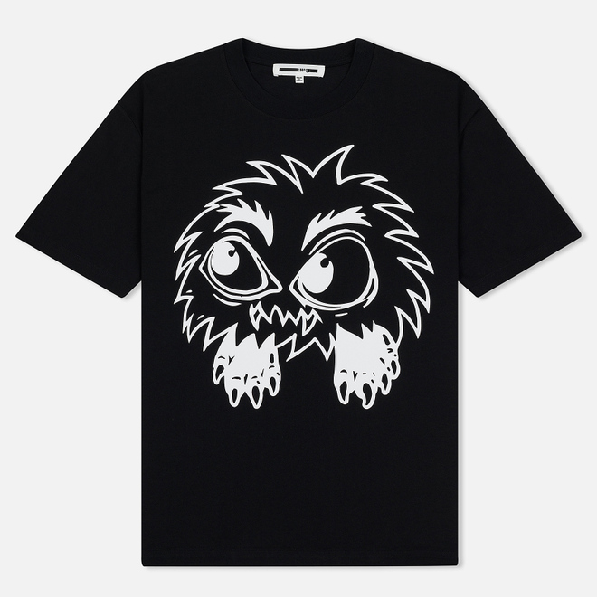 Мужская футболка McQ Alexander McQueen Monster Rally Dropped Shoulder Darkest Black