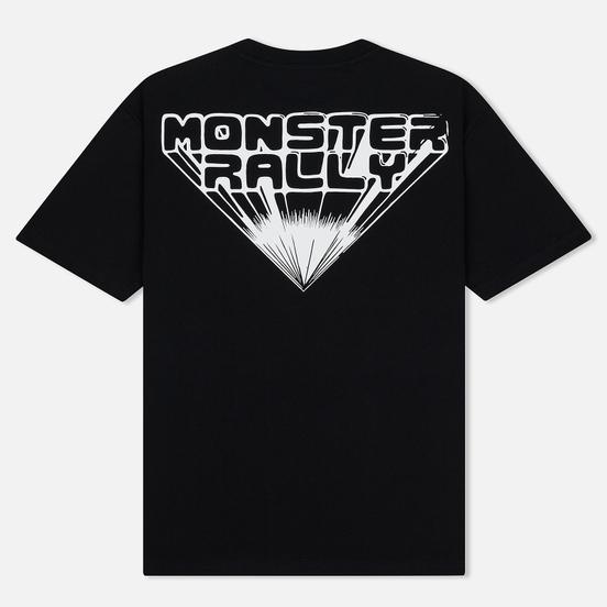 Мужская футболка McQ Alexander McQueen Monster Rally Dropped Shoulder Darkest Black