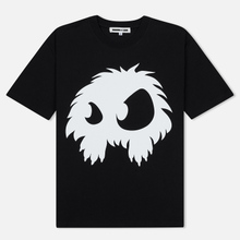 Мужская футболка McQ Alexander McQueen Screenprint Monster Dropped Shoulder Darkest Black фото- 0