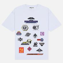 Мужская футболка McQ Alexander McQueen Sponsorship Dropped Shoulder Optic White фото- 0