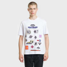 Мужская футболка McQ Alexander McQueen Sponsorship Dropped Shoulder Optic White фото- 1