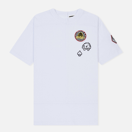 Мужская футболка McQ Alexander McQueen Upcycled Scout Badges Optic White