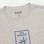 Мужская футболка MHI By Maharishi Club Print Grey Marl фото- 1