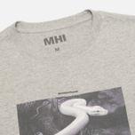 Мужская футболка maharishi Master Snake Grey Marl фото- 1
