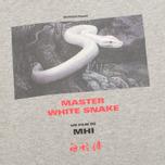 Мужская футболка maharishi Master Snake Grey Marl фото- 2
