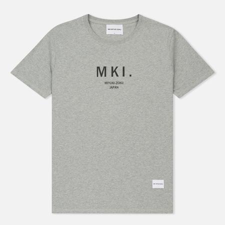 Мужская футболка MKI Miyuki-Zoku Classic Logo Grey