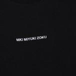 Мужская футболка MKI Miyuki-Zoku Embroidered Logo Black фото- 2