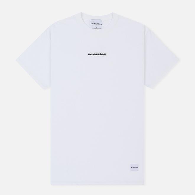 Мужская футболка MKI Miyuki-Zoku Embroidered Logo White