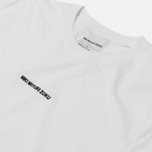 Мужская футболка MKI Miyuki-Zoku Embroidered Logo White фото- 1