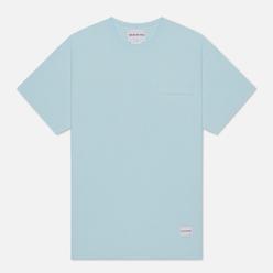 Мужская футболка MKI Miyuki-Zoku Garment Dyed Pocket Pastel Blue