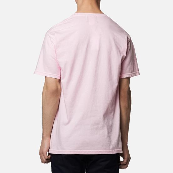 Мужская футболка MKI Miyuki-Zoku Garment Dyed Pocket Pastel Pink