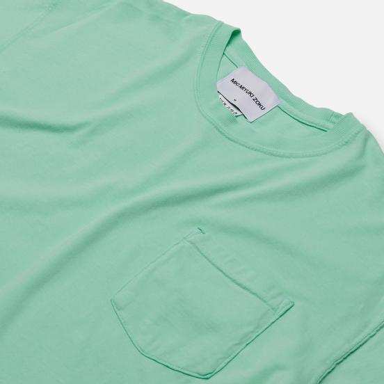 Мужская футболка MKI Miyuki-Zoku Garment Dyed Pocket Turqoise