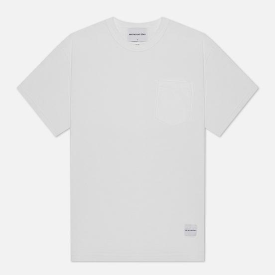 Мужская футболка MKI Miyuki-Zoku Garment Dyed Pocket White